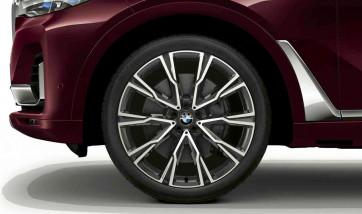 BMW Alufelge Y-Speiche 758 orbitgrey 9,5J x 22 ET 32 Vorderachse X7 G07