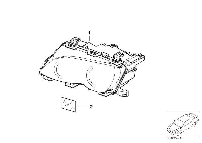 Scheinwerfer Bi-Xenonlicht links ZKW             3er  (63127165831)
