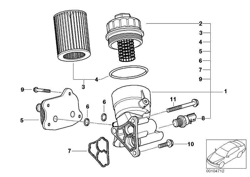 Ölfilter mit Aluminiumdeckel  MINI  (11427562250)