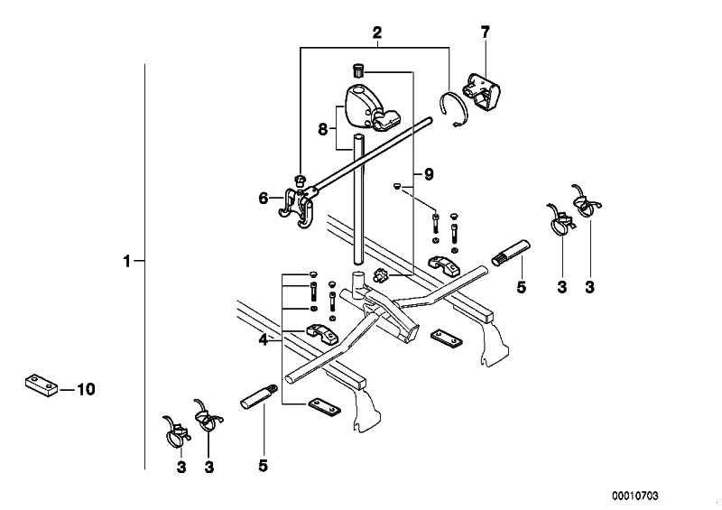 Fahrradlift 2er Set  1er 3er 5er 7er 8er Z3  (82729407932)