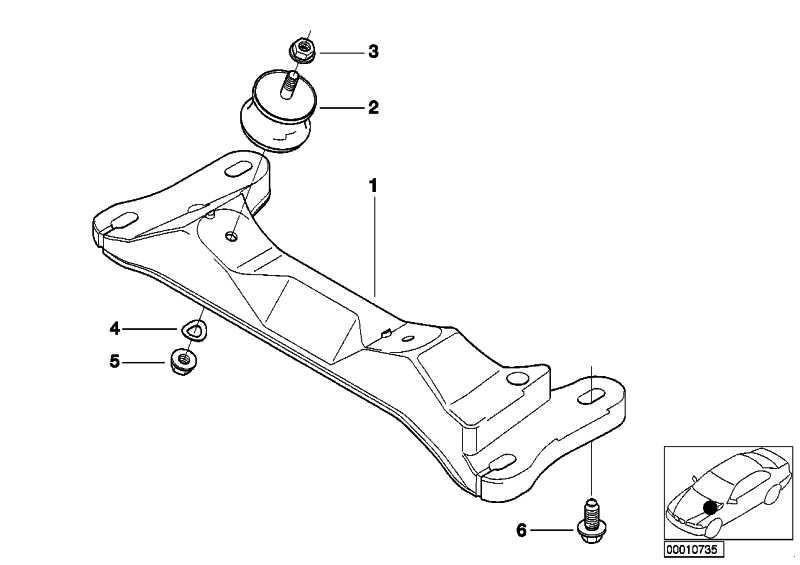 Getriebeträger  3er Z4  (22316768555)