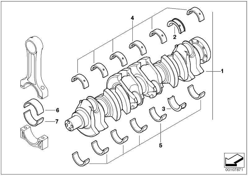 Austausch Kurbelwelle mit Lagerschalen  3er 5er 6er 7er X3 X5 X6  (11217810875)
