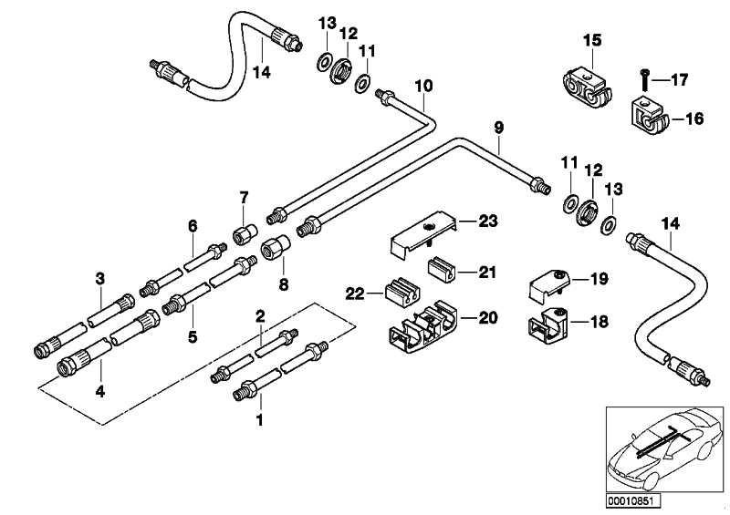 Rohrleitung M10/M12-3704MM  7er  (34326755115)