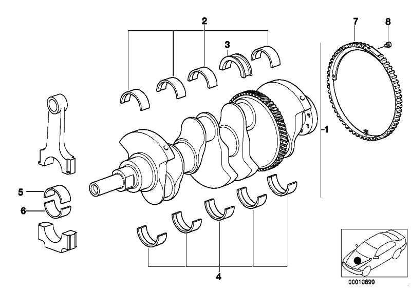 Austausch Kurbelwelle mit Lagerschalen  3er Z3  (11211433595)