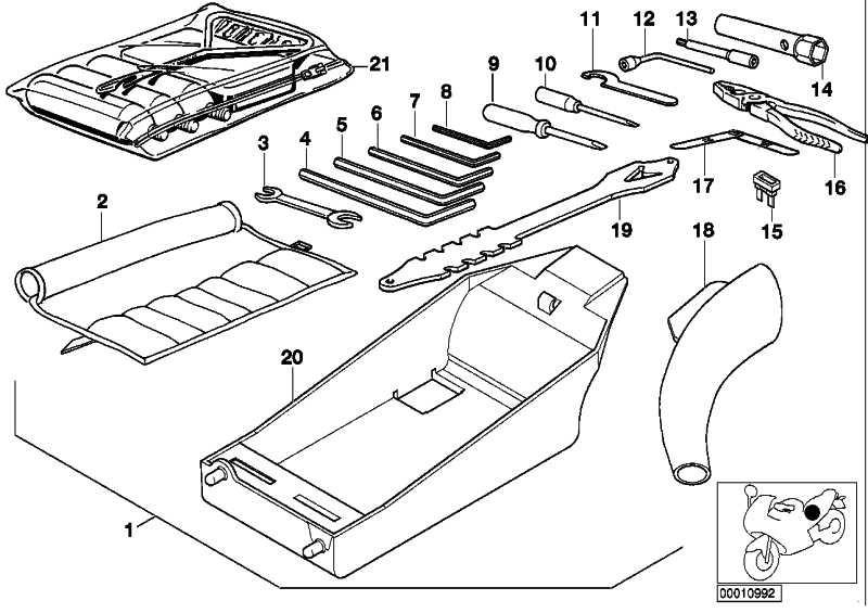 Bordwerkzeug K1200RS K41 K589  (71117659365)