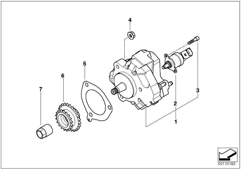 Austausch Hochdruckpumpe  3er 5er 7er X3 X5  (13518511826)