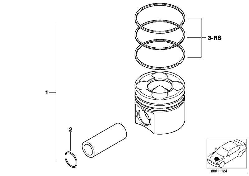 Reparatursatz Kolbenringe (0) - MAHLE     3er 5er 7er X3 X5  (11257790520)