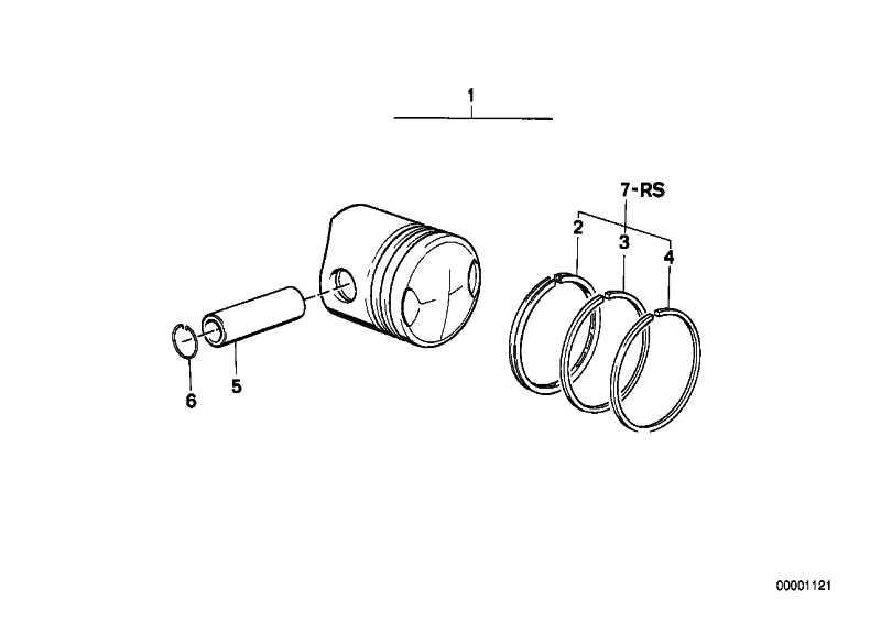 Reparatursatz Kolbenringe D=70             (11251335284)