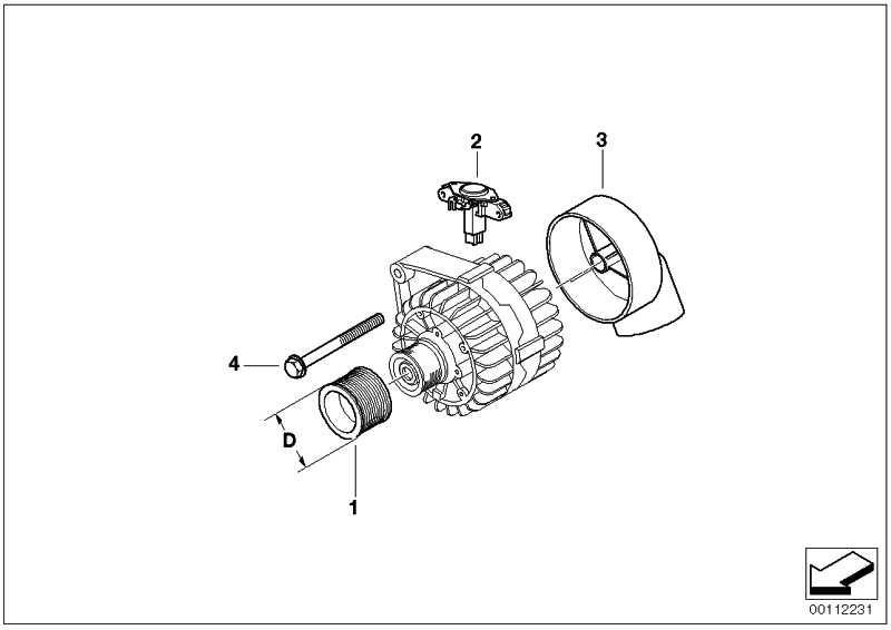 Austausch Kompakt Generator 170A            5er 6er 7er X3  (12317802929)
