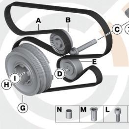 BMW Riementrieb Wasserpumpe Generator Satz 3er E46