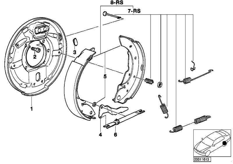 Reparatursatz Bremsbacken mit Federn  3er  (34219067127)