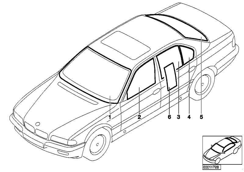 Frontscheibe grün RS              7er  (51318195044)