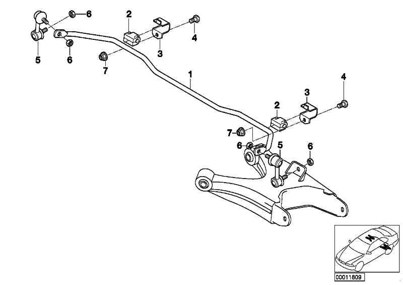Stabilisator hinten D=13MM 7er  (33551091257)