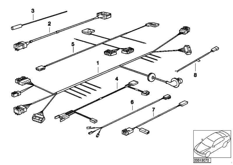 Rep.-Kabel Gurtstrammer  3er  (61128380935)