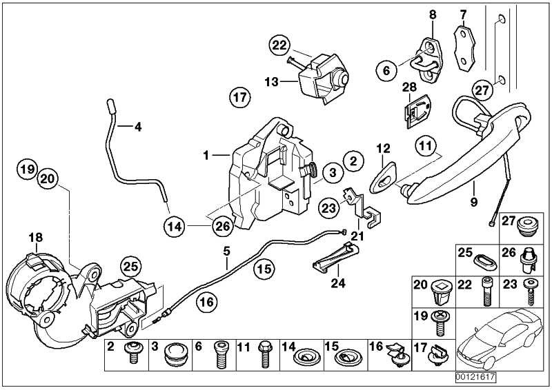 Verschluss mit Schlüssel  MINI  (51217074440)