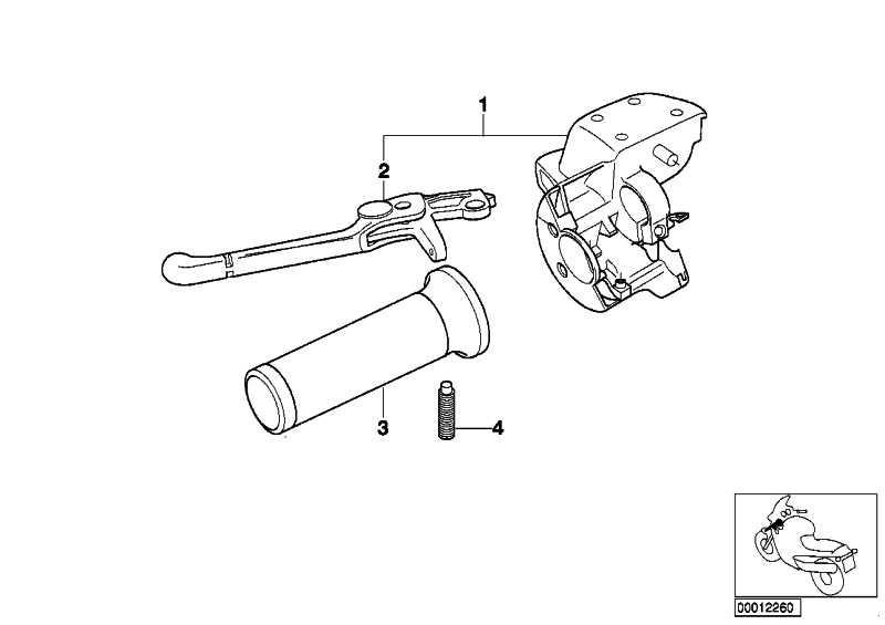 Handarmatur Kupplung weiss-alu 2  K30 259C  (32727650790)