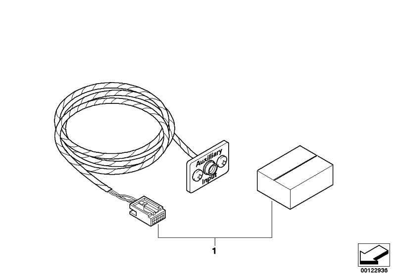 Nachrüstsatz Auxiliary Anschluss  5er 3er X5  (65120153503)
