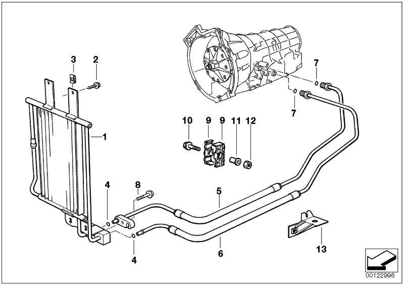 Ölkühler-Steckanschluss  3er 5er Z3  (17201728770)