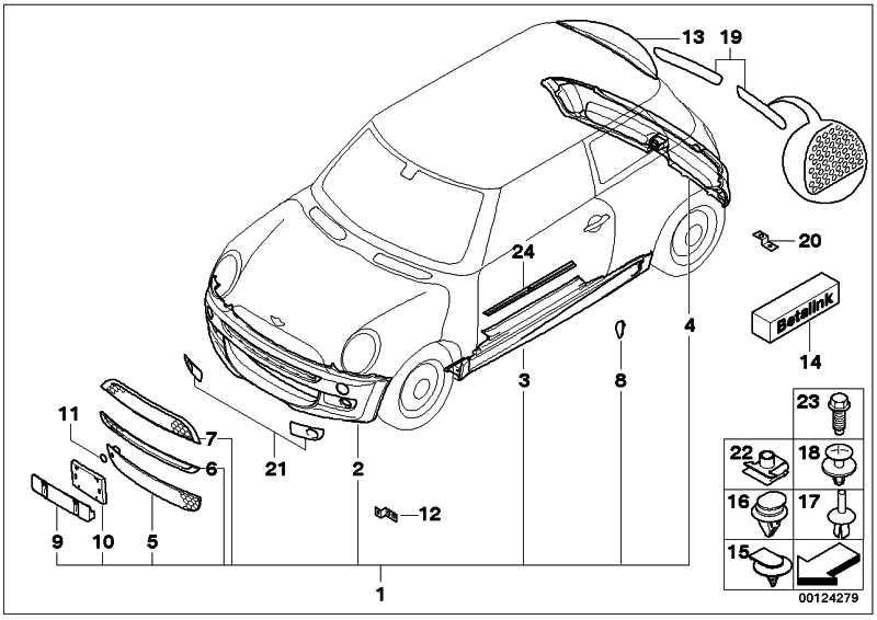 Aerodynamikpaket grundiert  MINI  (51190153266)