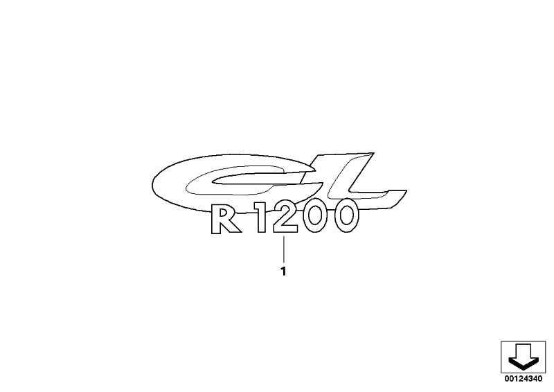 Schriftzug R1200CL          (51147676864)