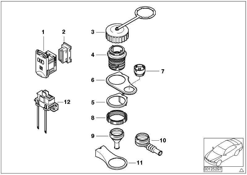 Deckel mit Rahmen OBD-Steckdose BLAU 3er 5er 7er X5 Z4 MINI  (61136920069)
