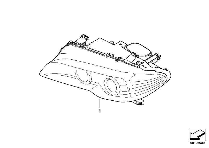 Scheinwerfer Bi-Xenonlicht AHL rechts TITAN           3er  (63127165960)