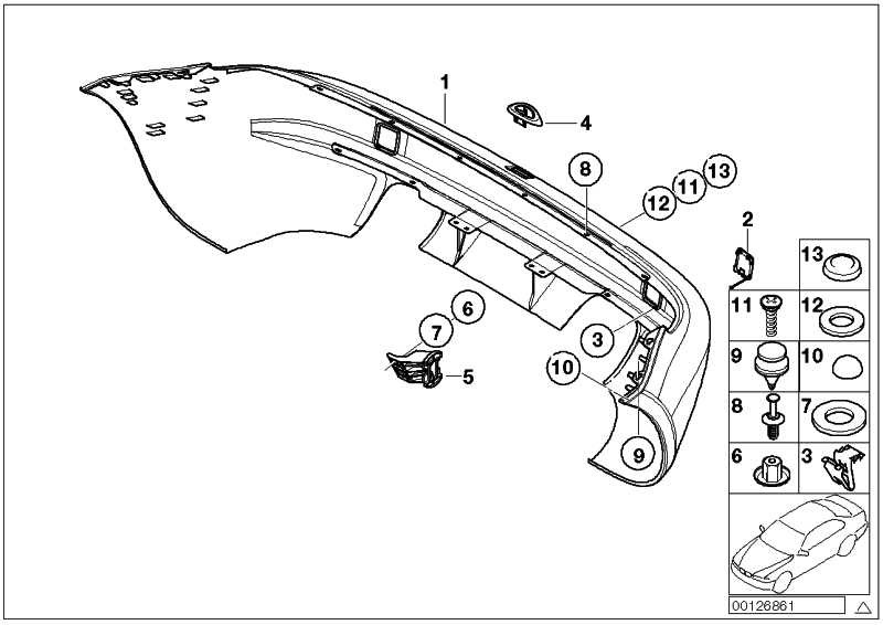 Verkleidung Stossfänger grundiert hinten M               Z3  (51122490032)