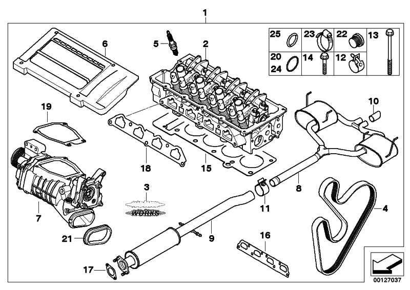 Zylinderkopf mit Ventiltrieb J. COOPER WORKS MINI  (11120301252)