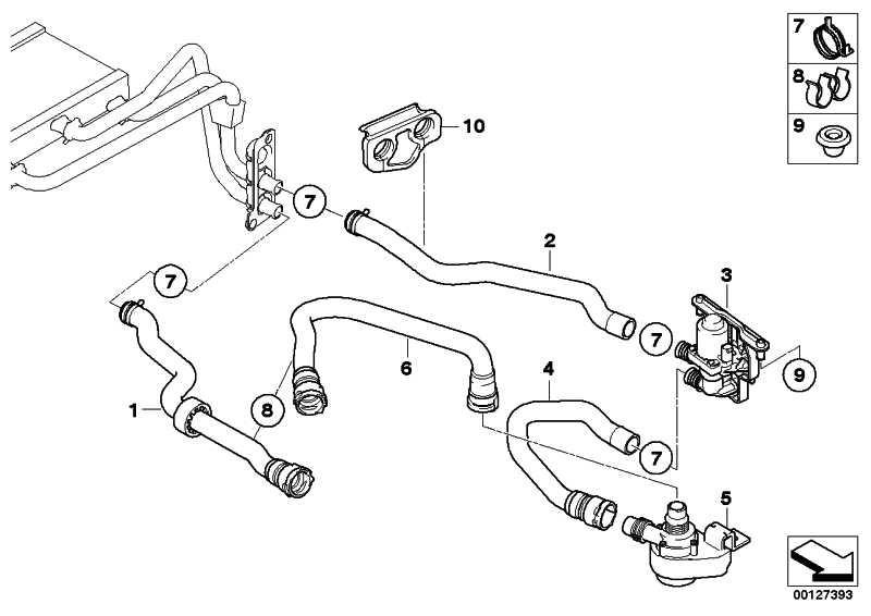 Schlauch Heizkörper-Motorrücklauf  5er 6er  (64216912735)
