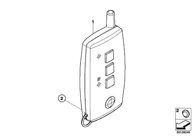 Handsender Telestart  3er 5er 6er X5 X6  (61316934807)