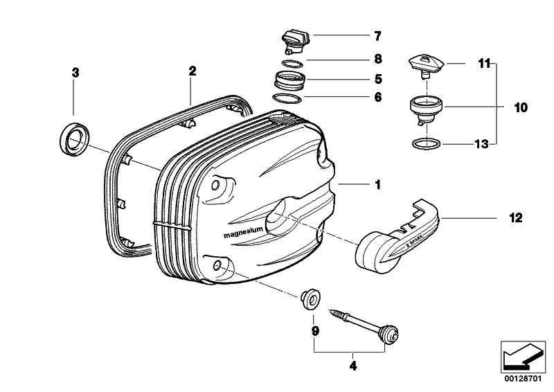 Zylinderkopfhaube Doppelzündung rechts SILBER           (11127672586)