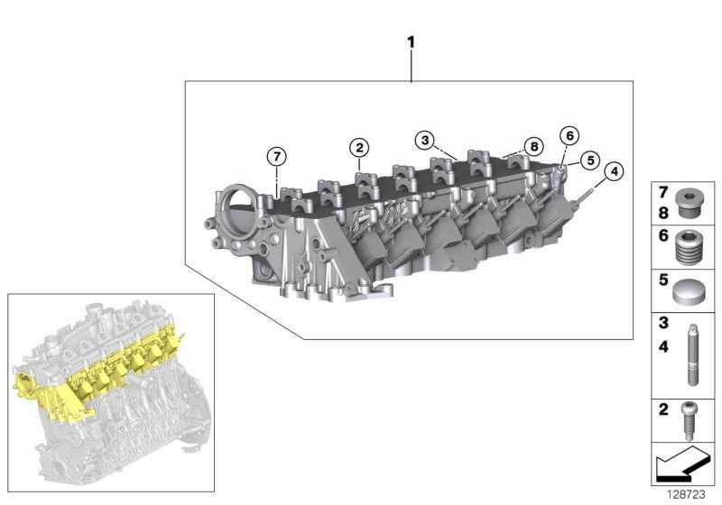Zylinderkopf  3er 5er X3 X5  (11127806060)