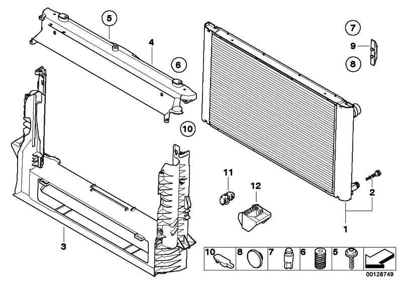 Kühlmittelkühler  5er  (17117792832)