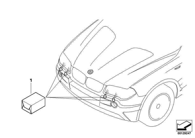 Nachrüstsatz Scheinwerferwaschanlage  X3  (61600304331)