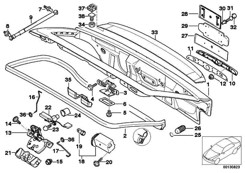 Heckspoiler für Bremsleuchte  Z3  (51718401850)