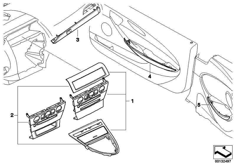 Dekorleiste Instrumententafel rechts BIRKE BEIGE     6er  (51457074009)