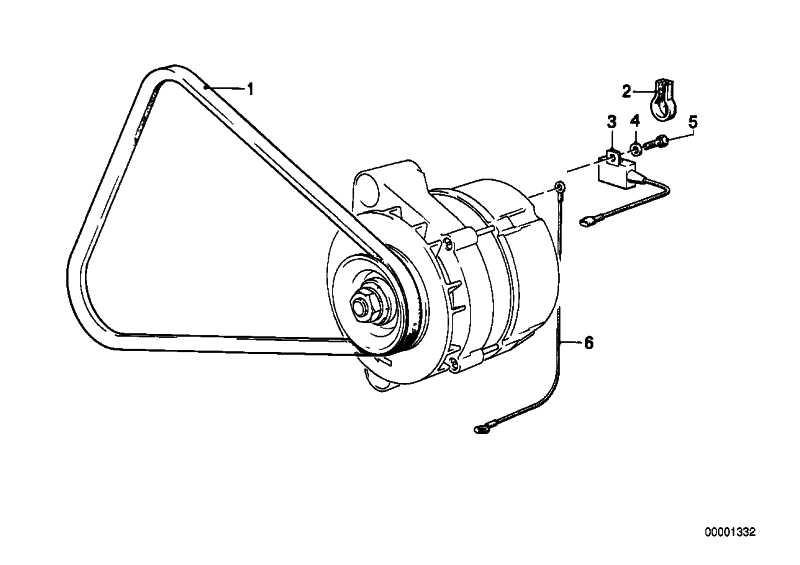 Massekabel Generator L=170MM         3er 5er 6er 7er  (12521312124)