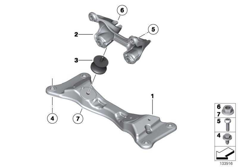 Getriebetragbock  1er 3er X1 Z4  (22326795972)