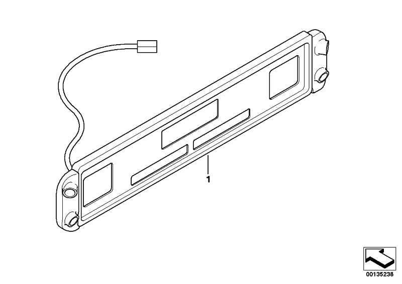 Nachrüstsatz PDC-II hinten US REAR NO SUV  3er 5er  (66210395009)