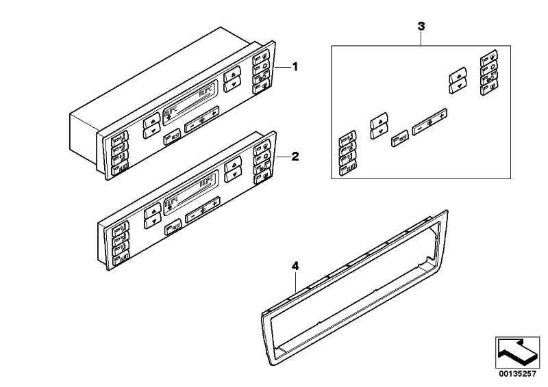 Frontplatte Bedienteil Klimaanlage  X5  (64116924314)
