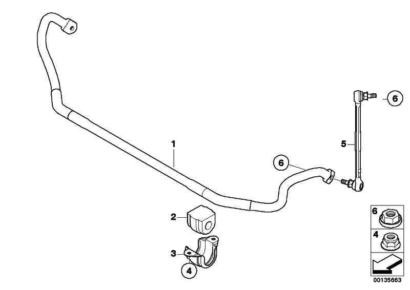 Stabilisator mit Gummilager vorn D=26,5MM        1er 3er X1 Z4  (31356793190)
