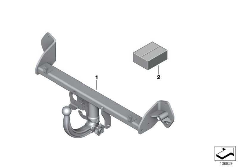 Anhängerkupplung mit abnehmb. Kugel  X1  (71606873073)