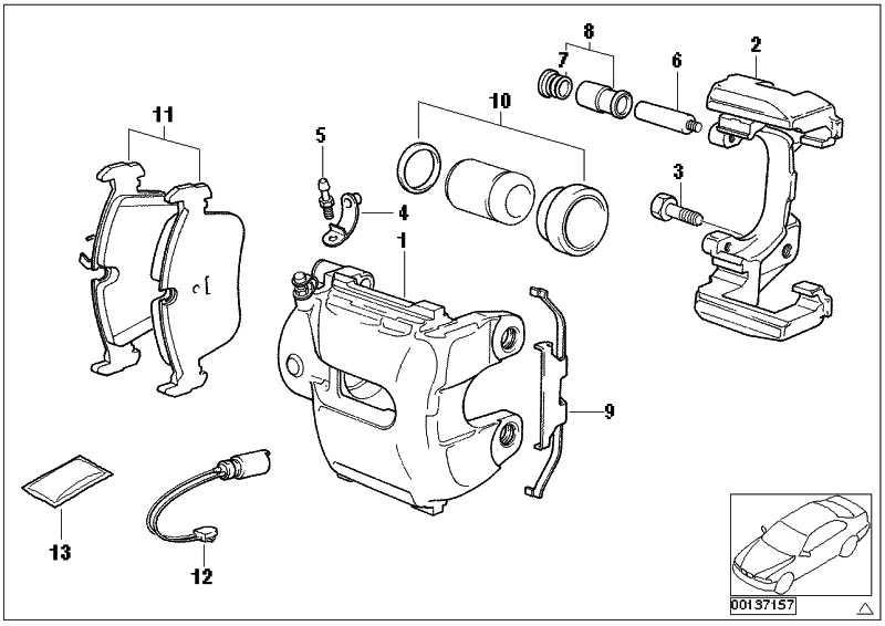 Reparatursatz Bremsbeläge asbestfrei  3er X1 Z4  (34116799166)