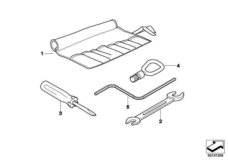 Werkzeugtasche  1er 3er 5er Z4  (71106790053)