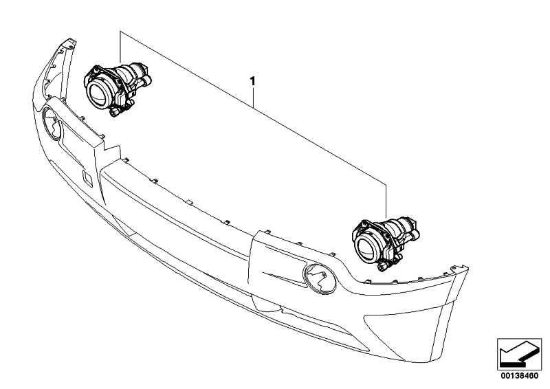Nachrüstsatz Nebelscheinwerfer  X3  (63130306624)