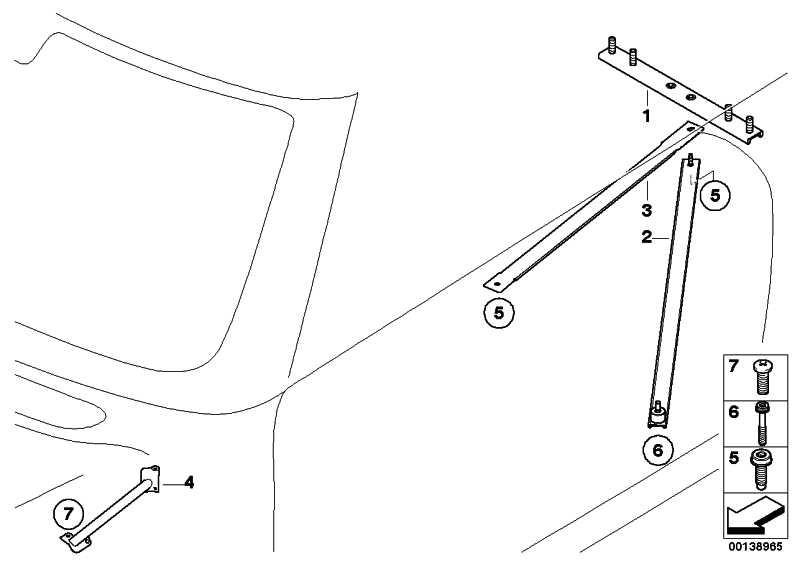 Diagonalstrebe rechts  MINI  (51617123516)