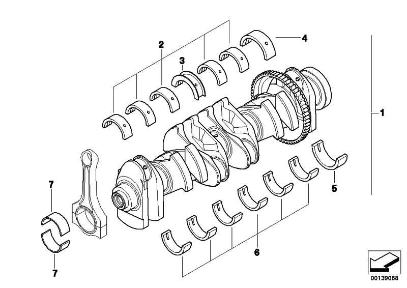 Austausch Kurbelwelle mit Lagerschalen  1er 3er 7er X6 Z4  (11212155816)