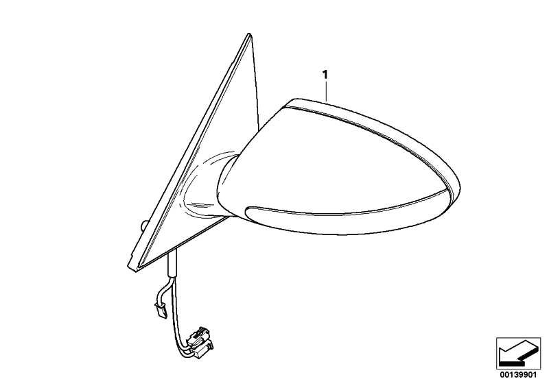 M Aussenspiegel o. Glas grundiert rechts M               5er  (51167897566)