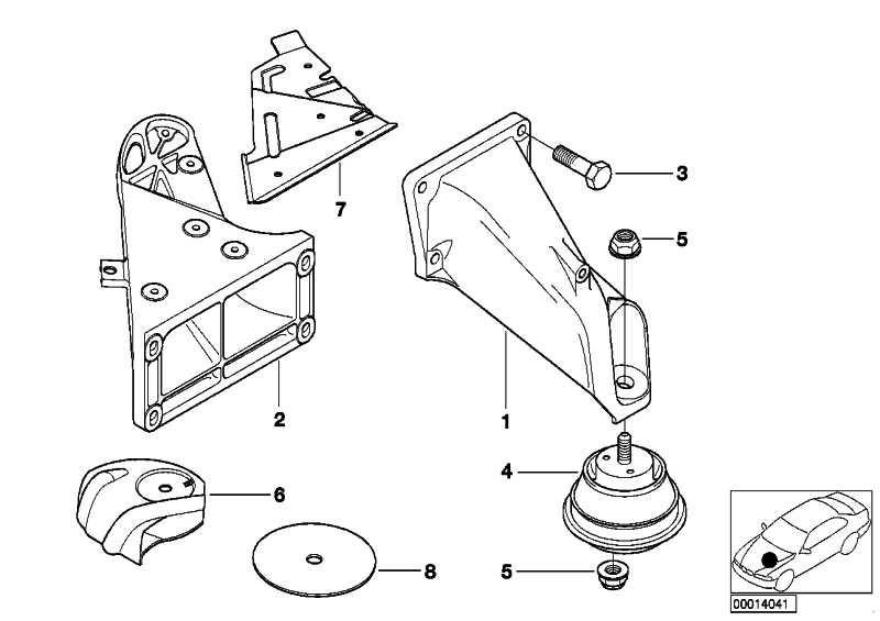 Sechskantschraube mit Scheibe M8X34-ZA-Z1 3er 5er 7er Z4  (07119904117)