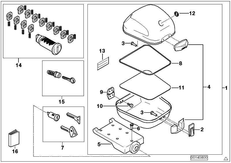 Top Case ohne Schliesszylinder SW / 31L         (71607710981)